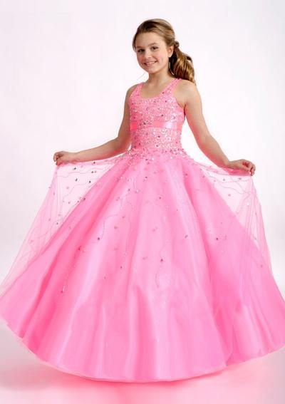82289cc7683 Ball Gown Scoop Neck Floor-length With Beading Satin Tulle Flower Girl  Dresses ...