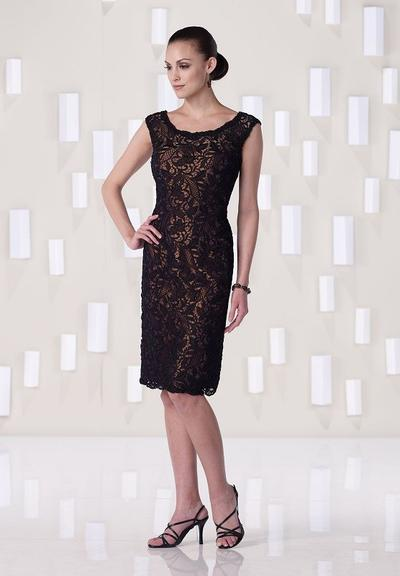 8834730c Sheath/Column Scoop Neck Knee-Length Cocktail Dresses With Lace (016215028)