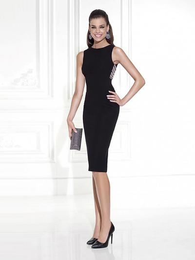 5388a5551fb Sheath Column Scoop Neck Knee-Length Evening Dresses With Beading  (017214680) ...