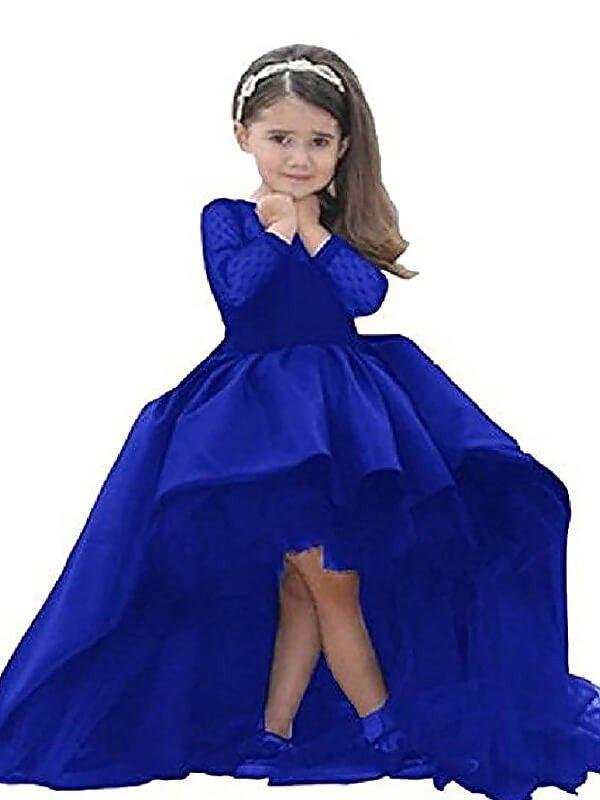 ad294ffae42 Ball Gown Scoop Neck Asymmetrical With Sash Satin Flower Girl Dresses  (010211731). Loading zoom