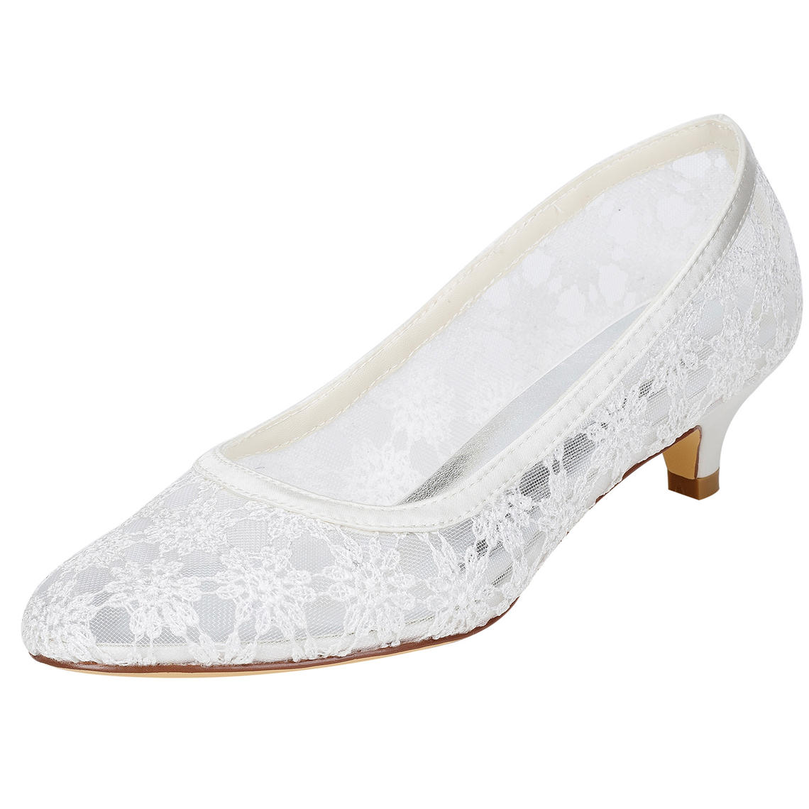 18d27cdcf1 Women's Pumps Kitten Heel Lace With Hollow-out Wedding Shoes (047208429). Loading  zoom