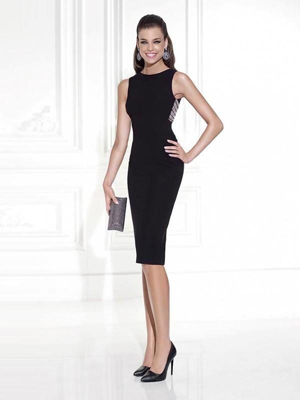 5867d3d22f Sheath Column Scoop Neck Knee-Length Evening Dresses With Beading  (017214680). Loading zoom