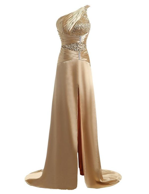 dfcc62f546 Empire Charmeuse Sleeveless One-Shoulder Sweep Train Zipper Up at Side  Mother of the Bride. Loading zoom