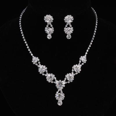 Jewelry Sets Alloy/Rhinestones Lobster Clasp Pierced Ladies' Wedding & Party Jewelry (011167167)
