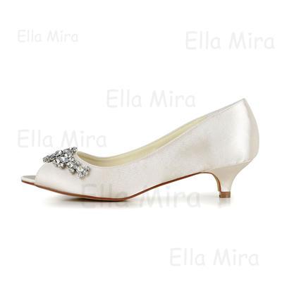 Femmes ouvert Chaussures bout Satiné Sandales Strass cône À de Talon avec mariage047048524 thxdsQrCBo