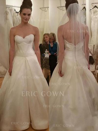 Ball-Gown Sweetheart Floor-Length Wedding Dresses With Ruffle (002212229)