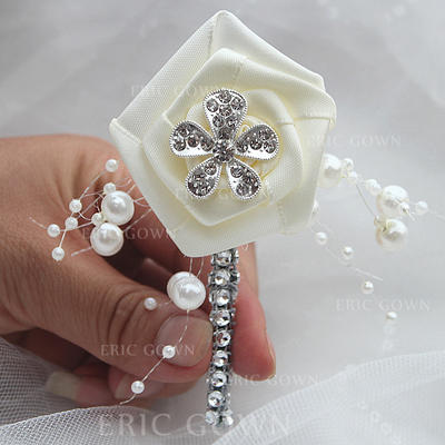 "Boutonniere Free-Form Wedding/Party Satin 1.97""(Approx.5cm) Wedding Flowers (123190129)"
