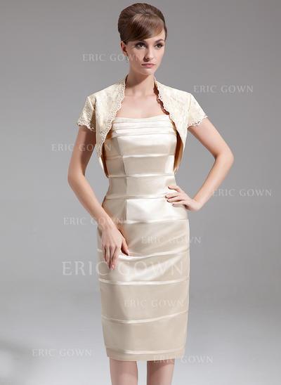 Sheath/Column Sweetheart Knee-Length Mother of the Bride Dresses (008213112)
