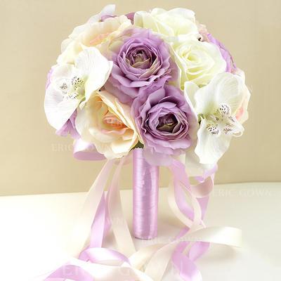 "Bridal Bouquets Wedding/Party Artificial Silk 9.49""(Approx.24cm) Romantic Wedding Flowers (123189354)"
