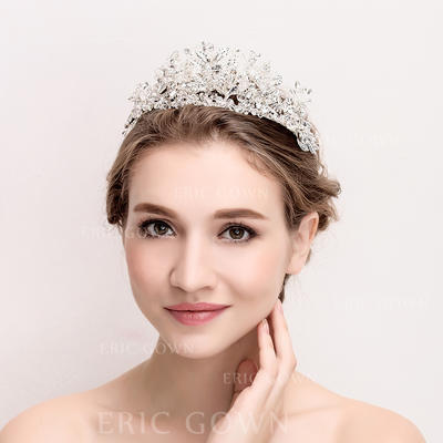 """Tiaras Wedding/Special Occasion/Party Rhinestone/Alloy 14.17""""(Approx.36cm) 3.55""""(Approx.9cm) Headpieces (042157965)"""