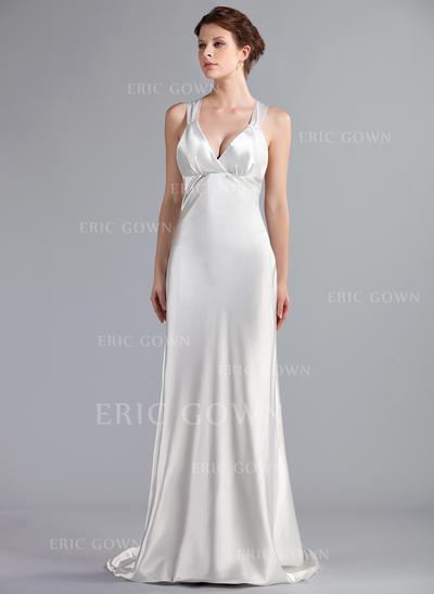 Empire Sweetheart Sweep Train Wedding Dresses (002210498)