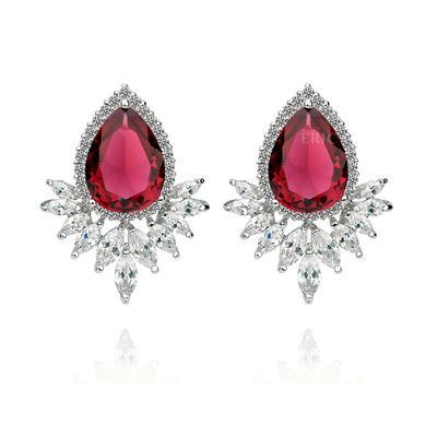 Earrings Zircon/Platinum Plated Pierced Ladies' Gorgeous Wedding & Party Jewelry (011164918)