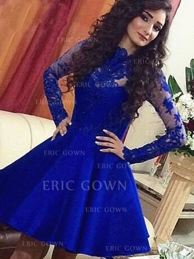 A-Line/Princess Scoop Neck Short/Mini Homecoming Dresses (022212269)