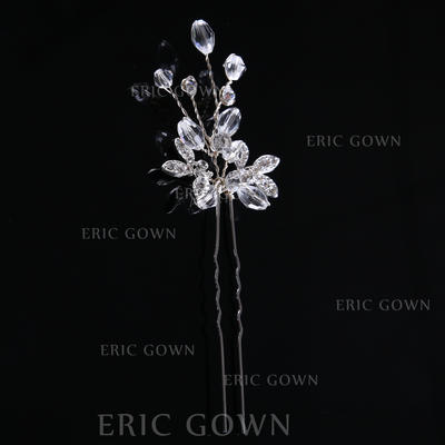 "Hairpins Wedding/Party Rhinestone/Alloy/Imitation Pearls 1.57""(Approx.4cm) 1.38""(Approx.3.5cm) Headpieces (042158161)"