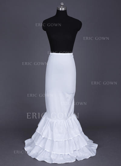 Floor-length Nylon/Lycra Full Gown Slip/Mermaid and Trumpet Gown Slip 3 Tiers Wedding/Special Occasion Petticoats (037190769)