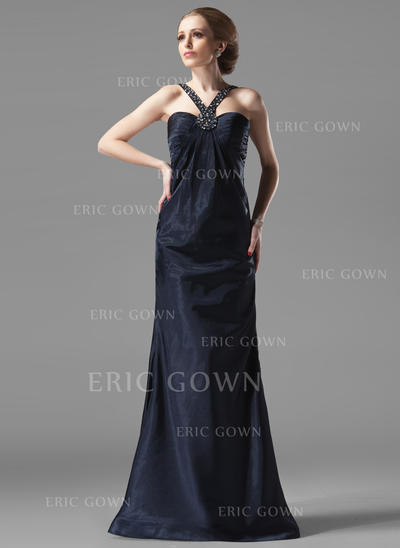 Sheath/Column Sweetheart Floor-Length Evening Dresses With Ruffle Beading (017002273)