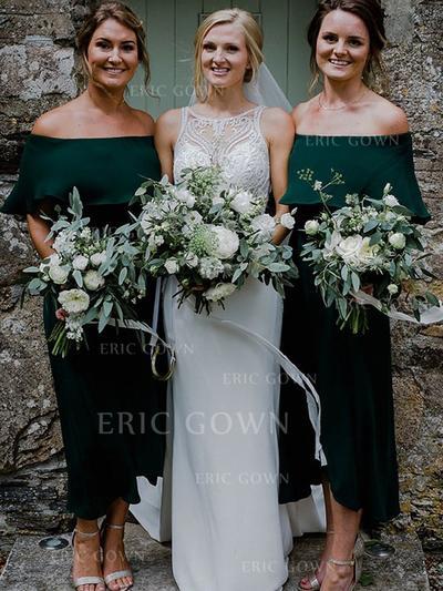 A-Line/Princess Off-the-Shoulder Ankle-Length Bridesmaid Dresses (007219274)