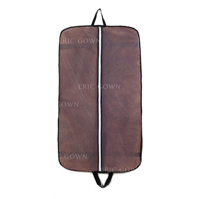 Garment Bags Suit Length Center Zip Tulle/Nonwoven Fabric Chocolate Wedding Garment Bag (035192306)