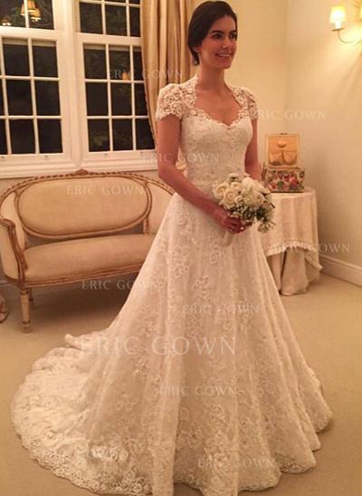 Balklänning Älsklingsringning Court släp Bröllopsklänningar (002144823)