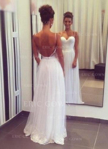 A-linjeformat Älsklingsringning Sweep släp Bröllopsklänningar med Spets (002147824)