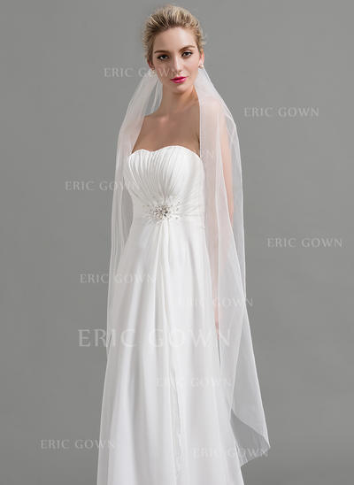 Waltz Bridal Veils Tulle One-tier Classic With Cut Edge Wedding Veils (006151932)