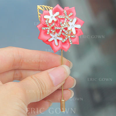 "Boutonniere Free-Form Wedding/Party Satin 1.57"" (Approx.4cm) Wedding Flowers (123190395)"