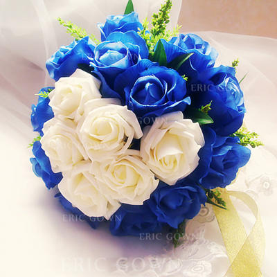 Bridal Bouquets Free-Form Wedding Satin/Artificial Silk Eye-catching Wedding Flowers (123189646)
