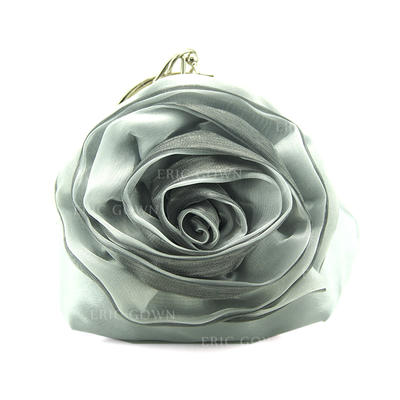 Clutches/Wristlets Wedding/Ceremony & Party/Casual & Shopping Crystal/ Rhinestone Clip Closure Attractive Clutches & Evening Bags (012186691)