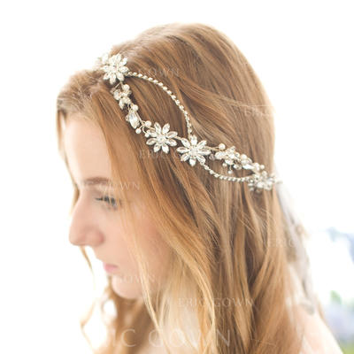 "Headbands Wedding/Party/Carnival Rhinestone/Alloy/Imitation Pearls 17.72""(Approx.45cm) 1.18""(Approx.3cm) Headpieces (042156296)"