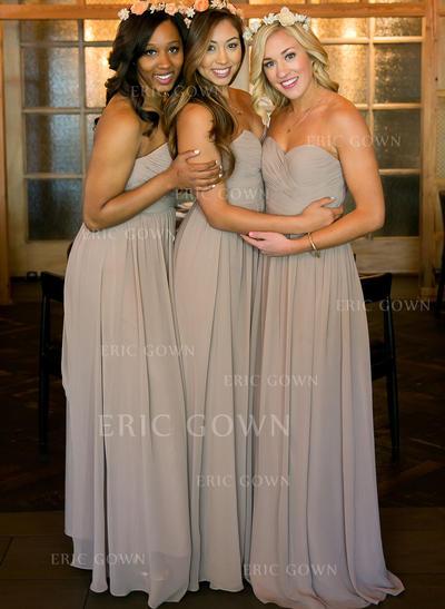A-Line/Princess Sweetheart Floor-Length Bridesmaid Dresses With Ruffle (007212235)