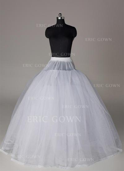 Bustle Floor-length Tulle Netting/Satin Full Gown Slip 4 Tiers Petticoats (037190849)