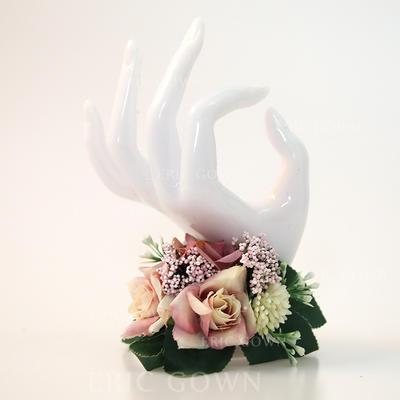 "Wrist Corsage Hand-tied Wedding Satin 1.18""(Approx.3cm) Wedding Flowers (123189810)"