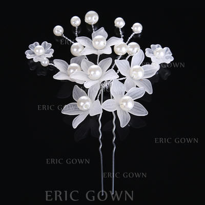 "Hairpins Wedding/Special Occasion Alloy/Imitation Pearls 3.15""(Approx.8cm) 2.76""(Approx.7cm) Headpieces (042158657)"