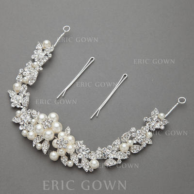"Headbands Wedding/Special Occasion/Party Alloy/Imitation Pearls 11.02""(Approx.28cm) 1.30 ""(Approx.3.3cm) Headpieces (042154207)"