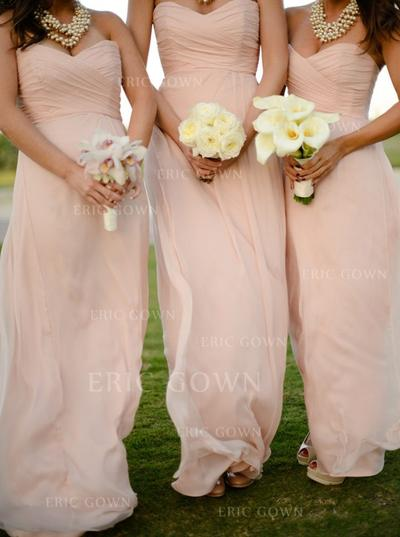 A-Line/Princess Sweetheart Floor-Length Bridesmaid Dresses With Ruffle (007146659)