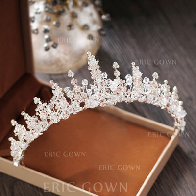"""Tiaras Wedding/Special Occasion/Party Crystal/Rhinestone/Alloy 2.17""""(Approx.5.5cm) 5.51""""(Approx.14cm) Headpieces (042158939)"""