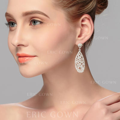 Earrings Alloy Rhinestone Ladies' Exquisite Wedding & Party Jewelry (011167143)