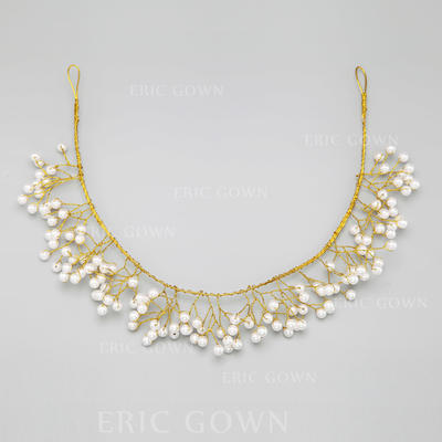 """Headbands Wedding/Special Occasion/Party Alloy/Imitation Pearls 14.96""""(Approx.38cm) 2.76""""(Approx.7cm) Headpieces (042154851)"""