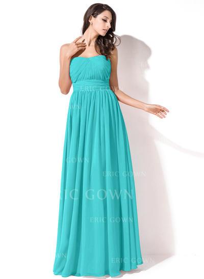 A-Line/Princess Sweetheart Floor-Length Bridesmaid Dresses With Ruffle (007063003)
