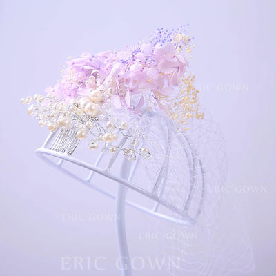 """Combs & Barrettes Wedding/Special Occasion/Party Rhinestone/Tulle 9.84""""(Approx.25cm) 7.87""""(Approx.20cm) Headpieces (042157393)"""