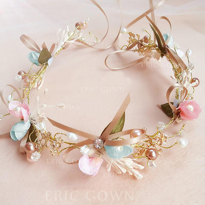 """Headbands Wedding/Party Alloy/Imitation Pearls 5.53""""(Approx.14cm) 1.77""""(Approx.4.5cm) Headpieces (042158716)"""