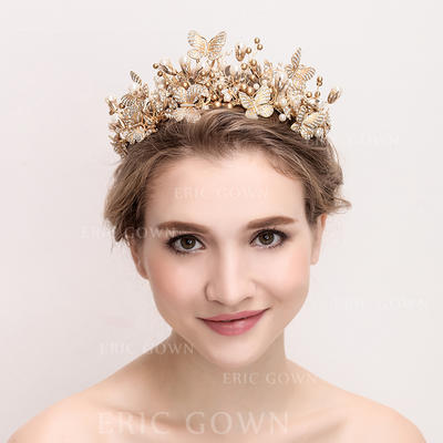 "Tiaras Wedding/Special Occasion Alloy/Imitation Pearls 15.75""(Approx.40cm) 3.15""(Approx.8cm) Headpieces (042158349)"
