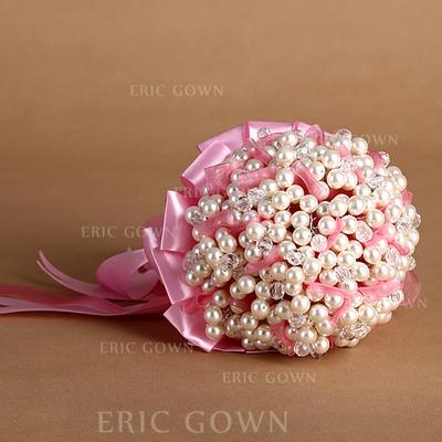 "Bridal Bouquets Round Wedding Satin 9.06""(Approx.23cm) Wedding Flowers (123188883)"