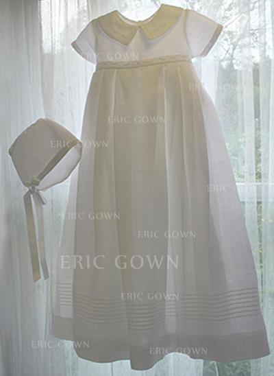 A-Line/Princess Peter Pan Collar Floor-length Satin Christening Gowns (2001216808)