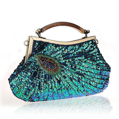 "Wristlets/Totes Sparkling Glitter/Polyester Magnetic Closure Elegant 7.87""(Approx.20cm) Clutches & Evening Bags (012188051)"