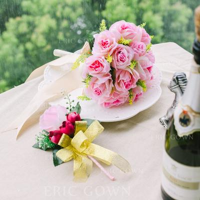 "Flower Sets Round Wedding Satin 8.66""(Approx.22cm) Wedding Flowers (123188968)"