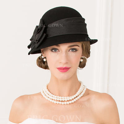 Wool With Bowknot Bowler/Cloche Hat Romantic Ladies' Hats (196194351)