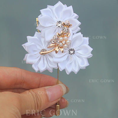 "Boutonniere Free-Form Wedding/Party Satin 2.76"" (Approx.7cm) Wedding Flowers (123190406)"