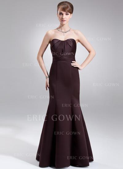 Trumpet/Mermaid Sweetheart Floor-Length Bridesmaid Dresses With Ruffle (007001866)