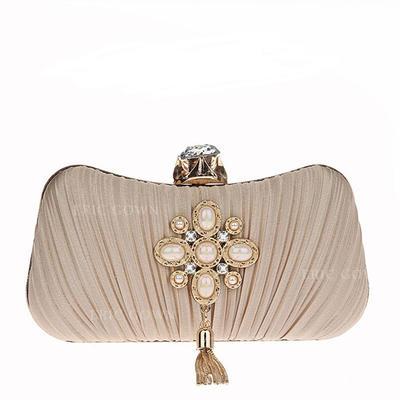 Elegant Beading Grepp/Handledsväskor/Satchel/Brudväska/Mode handväskor/Makeup Väskor/Lyx Bag (012141837)